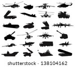 Detailed weapon silhouettes set. Vector on separate layers - stock vector