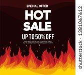 hot sale price offer deal... | Shutterstock .eps vector #1381067612