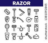 razor  shaving accessories... | Shutterstock .eps vector #1381092845