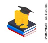 investment in education.... | Shutterstock .eps vector #1381108208