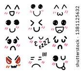vector cartoon emoticon... | Shutterstock .eps vector #1381125632
