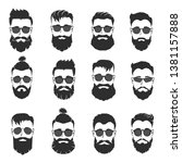 set of mens' heads with...   Shutterstock .eps vector #1381157888