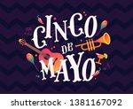 cinco de mayo  5 of may ... | Shutterstock .eps vector #1381167092