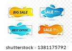 set of sale banners with trendy ... | Shutterstock .eps vector #1381175792