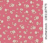 vector dark pink hand drawn...   Shutterstock .eps vector #1381187975
