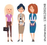 employees ladies collection... | Shutterstock . vector #1381200248