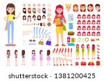 female constructor collection... | Shutterstock . vector #1381200425