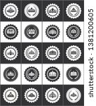 round stamps with noble crowns... | Shutterstock . vector #1381200605