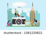 travel to new york creative... | Shutterstock .eps vector #1381220822