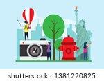 travel to new york creative... | Shutterstock .eps vector #1381220825