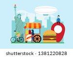 travel to new york creative... | Shutterstock .eps vector #1381220828