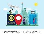 travel to new york creative... | Shutterstock .eps vector #1381220978