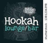 hookah with rays. vector... | Shutterstock .eps vector #1381236398