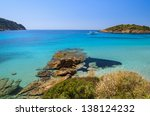 beautiful beach rocks bay... | Shutterstock . vector #138124232