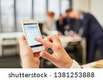 hand calculating with...   Shutterstock . vector #1381253888