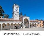 Loggia di San Giovanni and Torre dell Orologio at the Piazza Liberta In Udine / Friuli / Italy