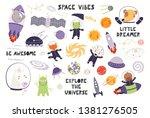 big set of cute animal... | Shutterstock .eps vector #1381276505