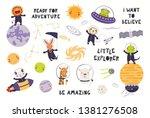 big set of cute animal... | Shutterstock .eps vector #1381276508