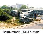 pedestrian crossing next to... | Shutterstock . vector #1381276985