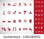 plumbing and sanitary vector... | Shutterstock .eps vector #1381285052