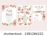 hand drawn flower wedding... | Shutterstock .eps vector #1381286222