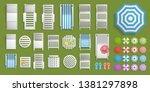 icons set. outdoor furniture...   Shutterstock .eps vector #1381297898