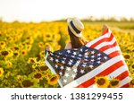 beautiful girl in hat with the... | Shutterstock . vector #1381299455