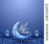 ramadan kareem background with...   Shutterstock .eps vector #1381318472