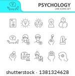 psychology line icon set. man ...