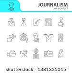 journalism icons. line icons... | Shutterstock .eps vector #1381325015