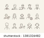 job icons. set of line icons on ... | Shutterstock .eps vector #1381326482