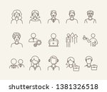 businesspeople icons. set of... | Shutterstock .eps vector #1381326518