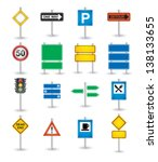 road signs icons | Shutterstock .eps vector #138133655