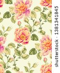 large flowers pattern design ... | Shutterstock . vector #1381341845
