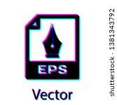 black eps file document icon.... | Shutterstock .eps vector #1381343792