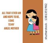 happy mother's day vector... | Shutterstock .eps vector #1381351982