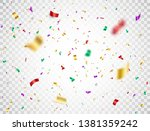 colorful confetti falling on... | Shutterstock .eps vector #1381359242