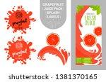 cartoon grapefruit on juice...   Shutterstock .eps vector #1381370165