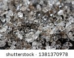 scattered diamonds on a black... | Shutterstock . vector #1381370978