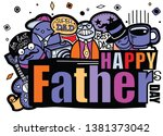 happy father s day hand drawn...   Shutterstock .eps vector #1381373042