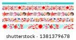 summer design marine border... | Shutterstock .eps vector #1381379678