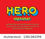superhero comic style vector... | Shutterstock .eps vector #1381383398