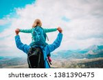 happy father with little... | Shutterstock . vector #1381390475