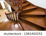 Close Up Detail Of Brown Woode...