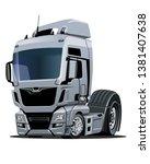 cartoon semi truck isolated on...   Shutterstock .eps vector #1381407638