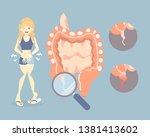 woman having stomachache ... | Shutterstock .eps vector #1381413602