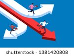 three businessmen running in... | Shutterstock .eps vector #1381420808