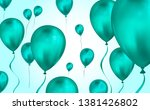 glossy teal color flying helium ... | Shutterstock .eps vector #1381426802