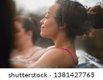 mid adult woman relaxing in a... | Shutterstock . vector #1381427765