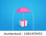 3d Rendering Of A Pink Umbrella ...
